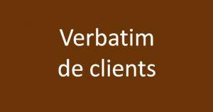 Verbatim clients